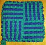 potholder woven by child